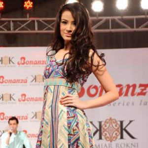 Kamiar Rokni Bonanza Lawn Launches at Fashion Show