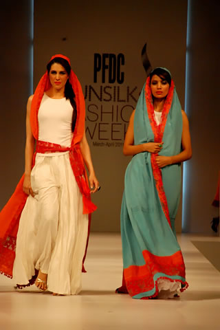 Pakistani Designer Sara Shahid at PFDC Sunsilk Fashion Week 2011 Lahore
