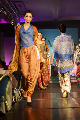 Faiza Samee at Pakistan Fashion Extravaganza London 2013
