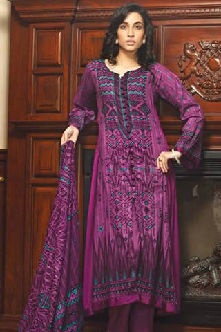Firdous Fall Cambric Collection 2013