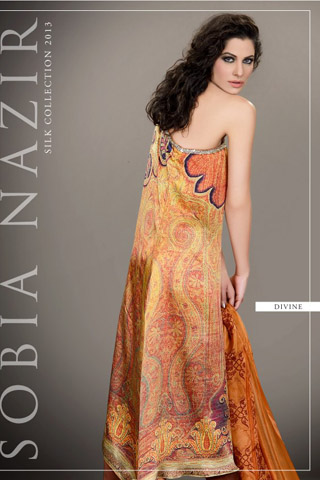 Latest Silk Collection 2013 by Sobia Nazir