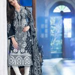 2015 Black White Gul Ahmed Dresses Collection Photos