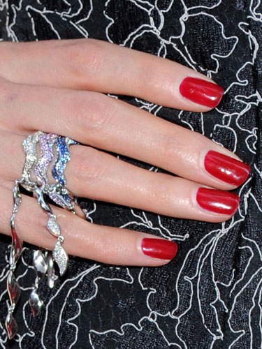 Red nail Polish Color