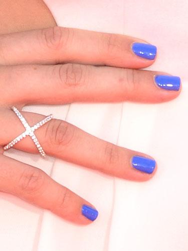 Blue nail color
