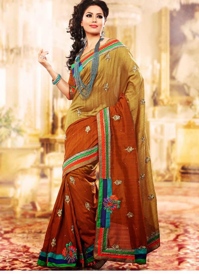 double drape sari styles