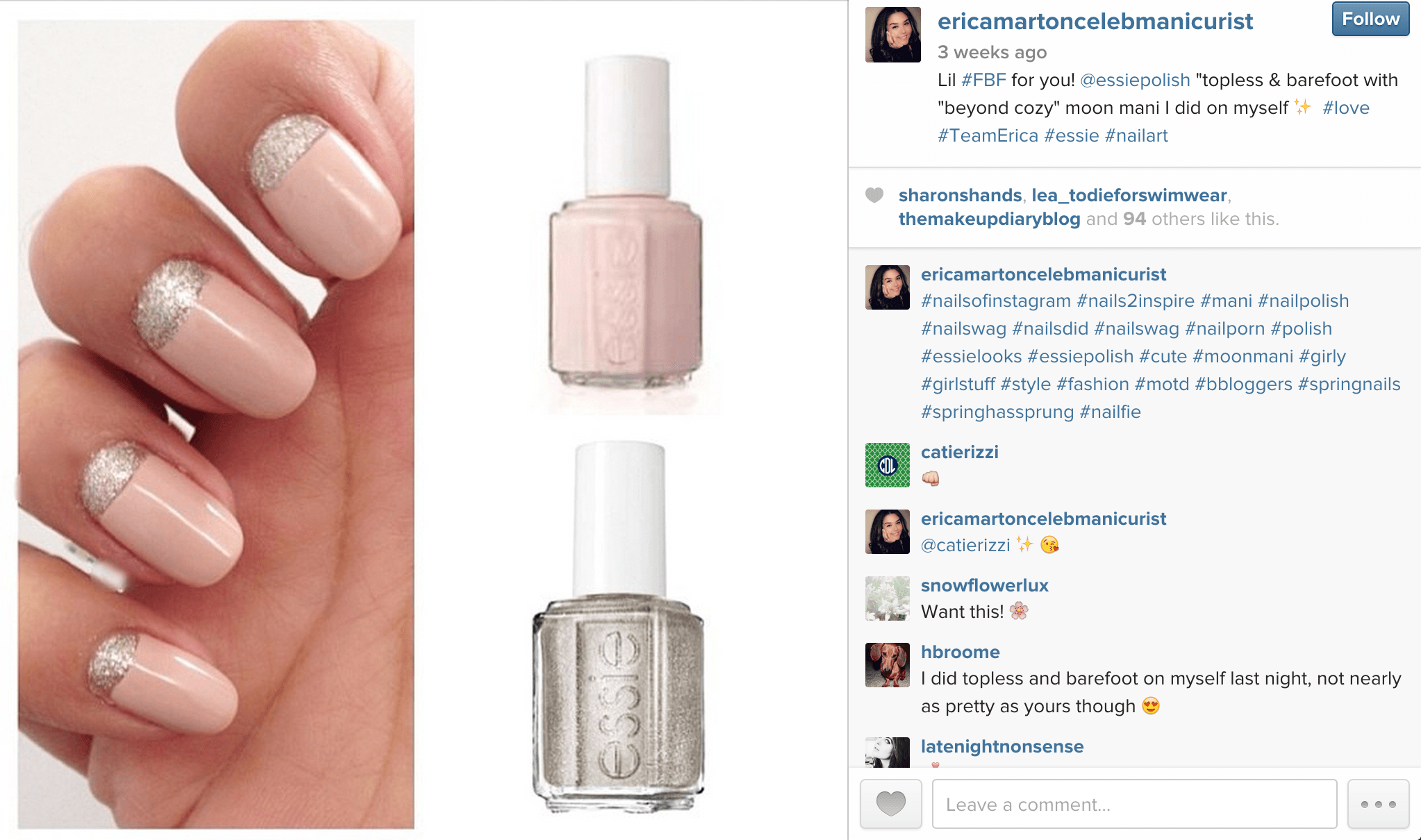 Essie beoynd cosy