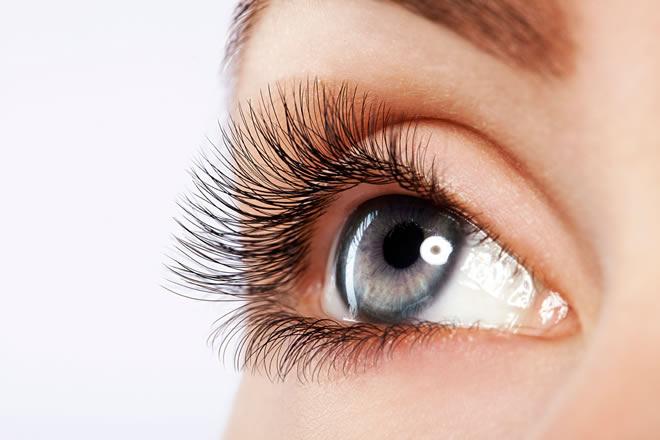 beauty of eyelashes