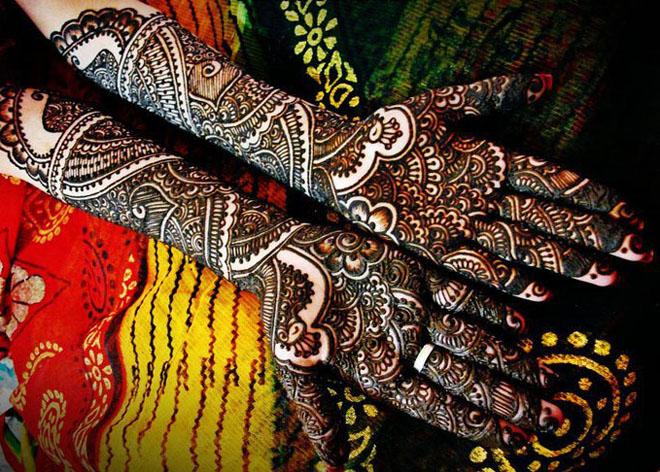 Half Arm Mehndi Design