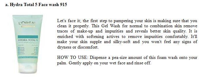 Face wash 5 Normal skin