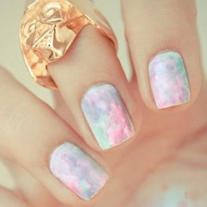 Watercolor Nail Art Designs