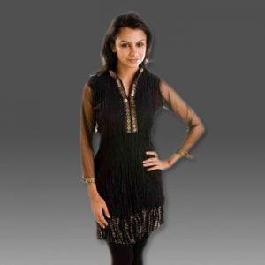 Black Crepe Kurti Glamor In Summer
