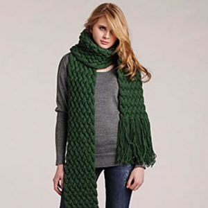 Giant Cable Scarf Style for Fall 2013