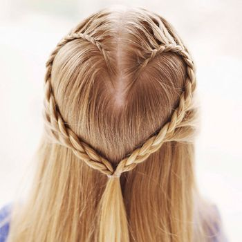 Lace Braid Heart Valentine's Day Hairstyles