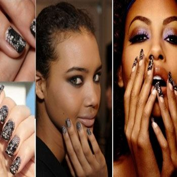 Leather & Lace Nail Trend 2012