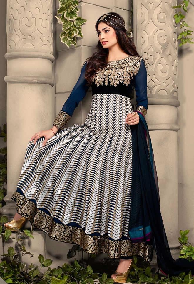 navy blue bridal wear dresses