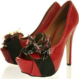 Peep Toe Floral Corsage Slingback Shoes
