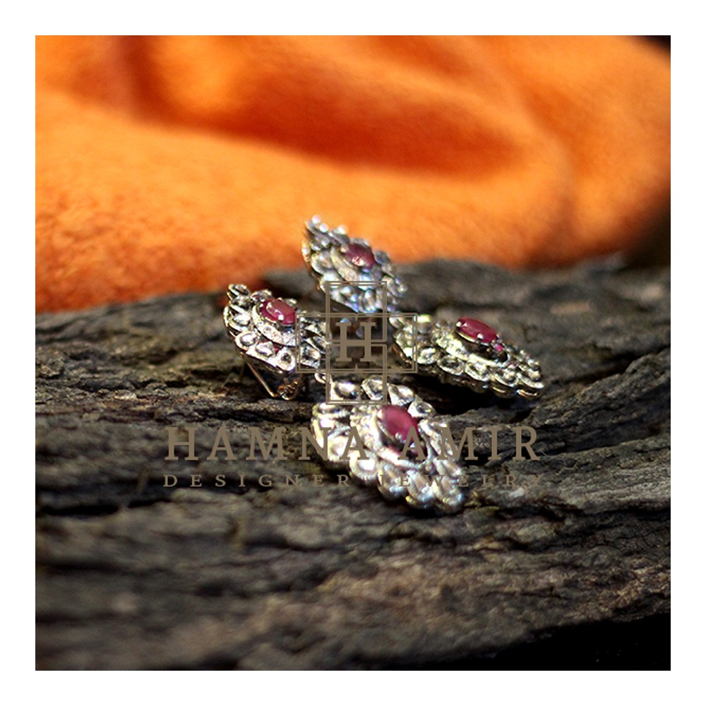 silver_red_earing