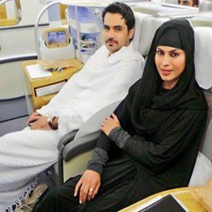 Veena Malik leaves with husband Asad to perform Umrah