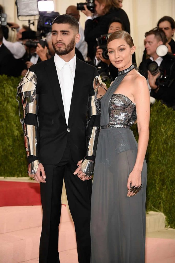 Gigi Hadid and Zayn Malik at the Met Gala 2016