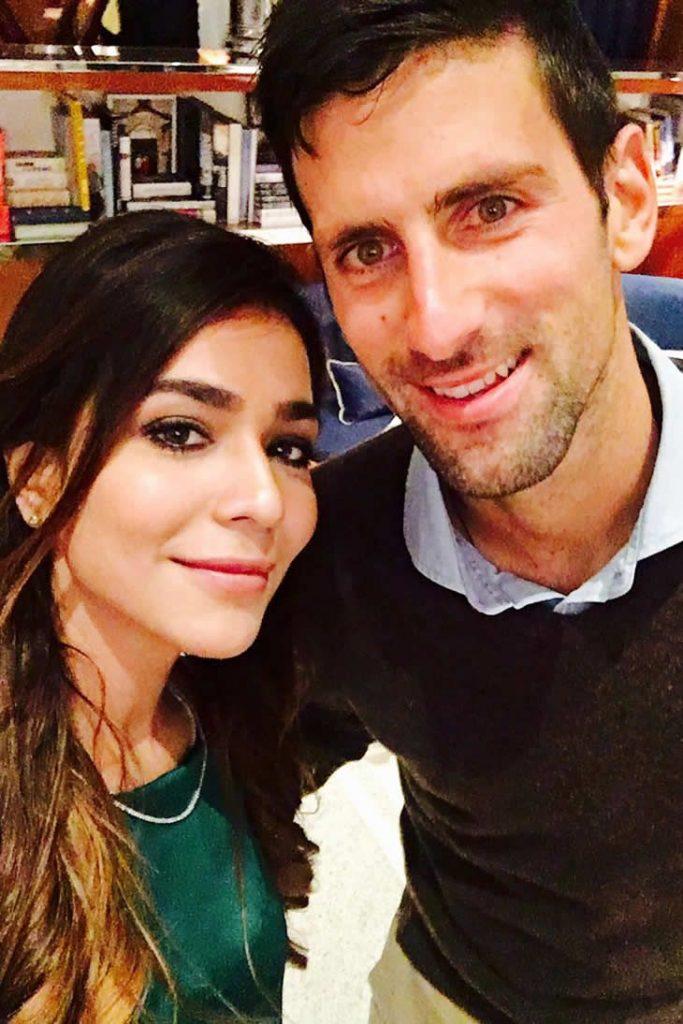 Humaima Malik and Novak Djokovic spotted Together