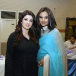 Saba and Mehreeen Syed at V Lawn 2011 Exhibition