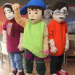 3 Bahadur Mascots Amna, Kamil and Saadi