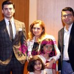 Fawad A Khan Sana Salman CEO IFF Head Finance IFF Salman Masood with children Imman and Hiba