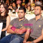 Model Cybil, Umar Akmal and Shoaib Malik