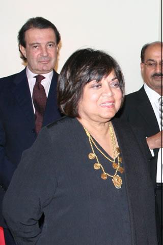 Ambasador Munir Akram, writer Samina qureshi, Gen (R) Anees Bajwa in Middle at back-1