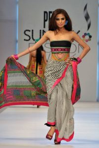 Ittehad Lawn Prints at PFDC Sunsilk Fashion Week Lahore 2011 by Mehdi