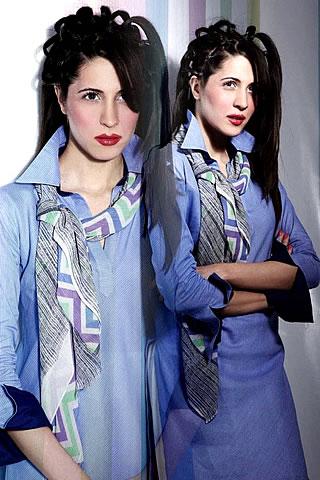 Sabina Pasha in Nishat Summer lawn Collection 2010