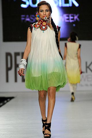 Fouzia Aman at PFDC Sunsilk Fashion Week 2012 Day 3