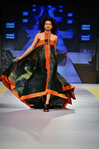 Bina Sultan at Karachi Fashion Week 2011, Latest Collection by BNS