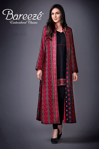 Embroidered Classic Winter Collection By Bareeze | Latest Winter Collection
