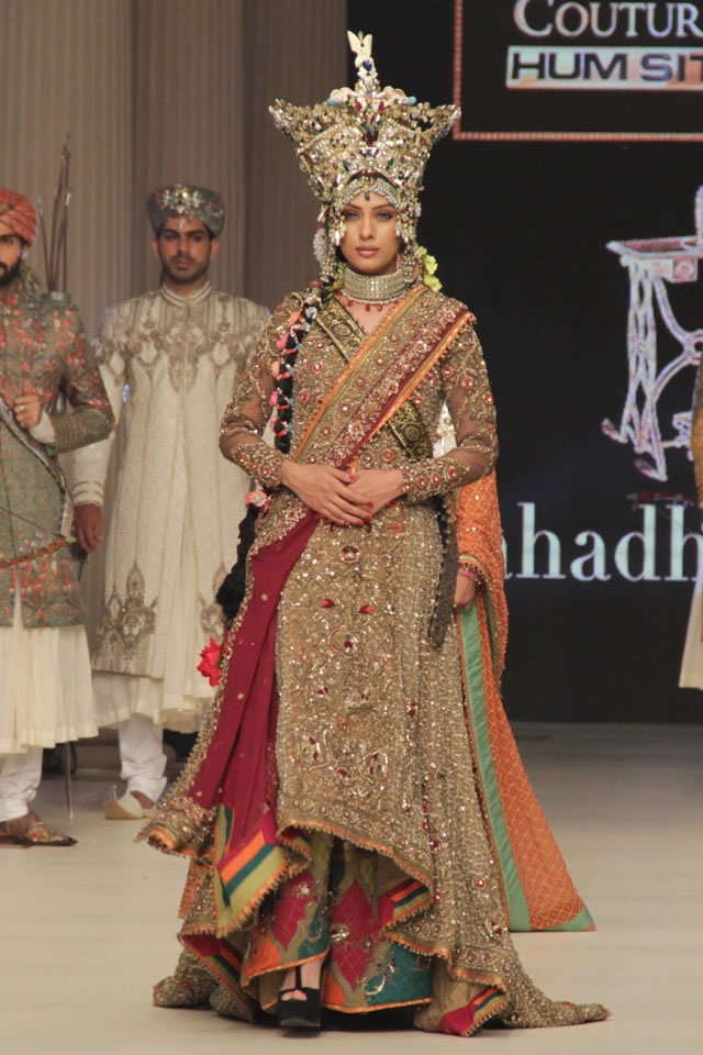 Fahad Hussayn Latest Bridal 2014 Nautanki Rani Collection