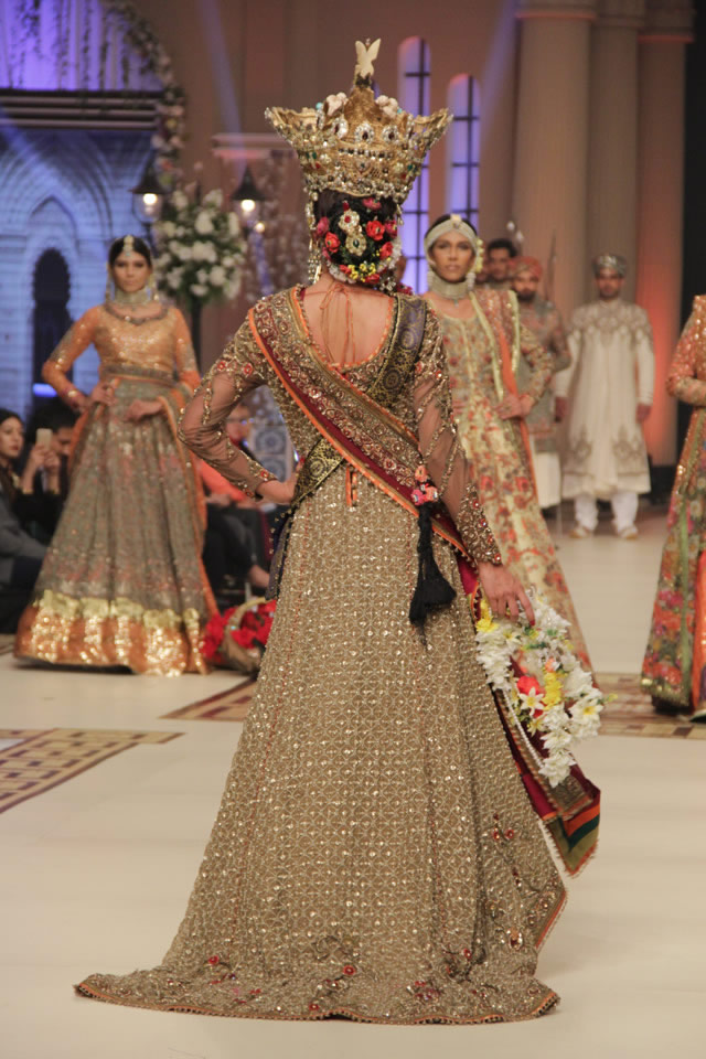 Bridal Nautanki Rani Fahad Hussayn 2014 Collection