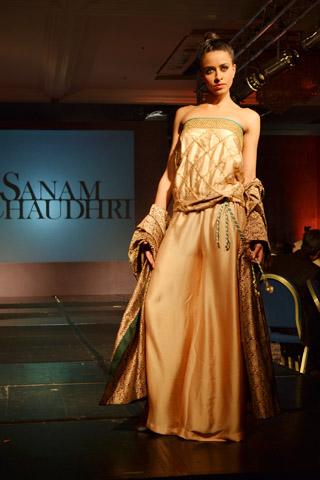 Sanam Chaudhri at Pakistan Fashion Extravaganza London 2013
