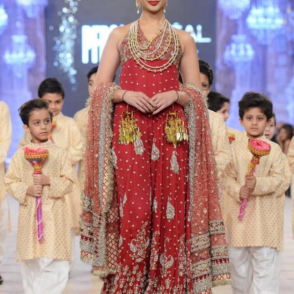 Karma Red The Lotus Raj Collection at PFDC 2014