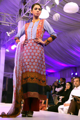 Latest Pakistani Lawn Collection 2014
