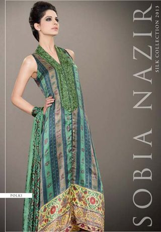 Latest Silk Collection 2013 by Sobia Nazir, Silk Collection 2013