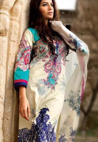 Go Bright with Latest Summer Lawn Collection 2013 by Sana Safinaz