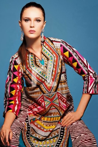 Spring Nisha 2014 By Nishat Linen Collection