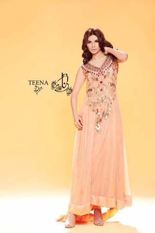 Teena by Hina Butt Formal Dresses 2014, Latest Formal Dresses