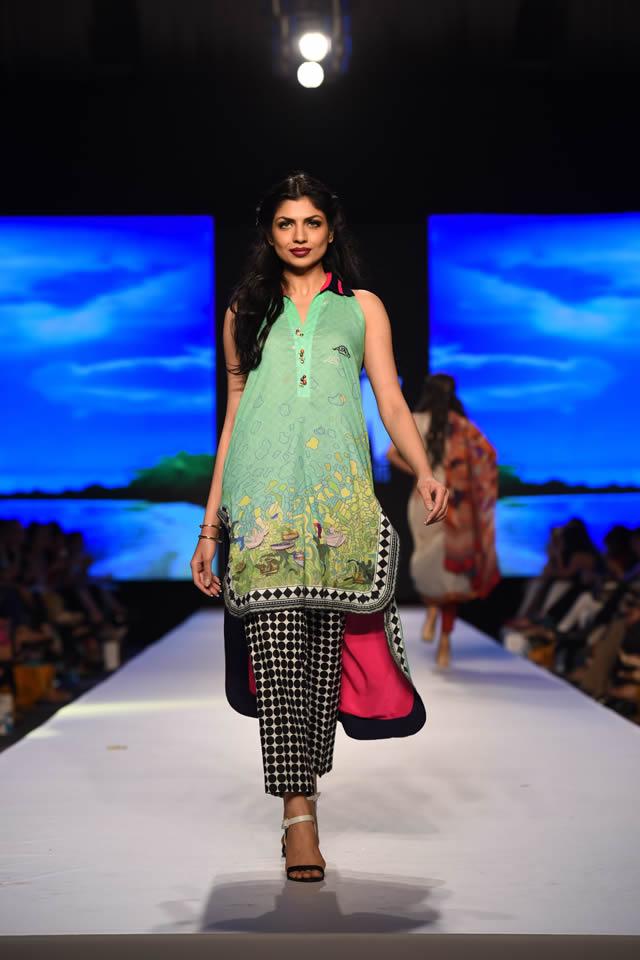 2015 Telenor Fashion Pakistan Week Al Karam Formal Dresses Pics