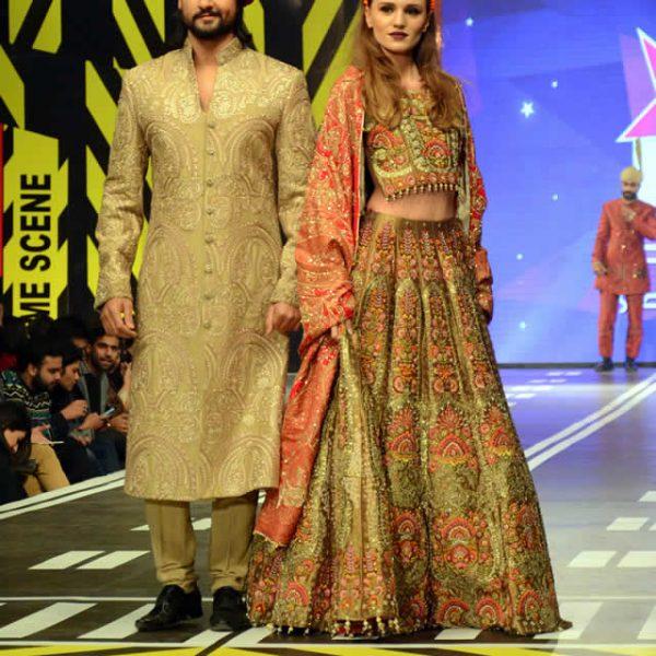 Ali Xeeshan Latest Dresses at Runway Pakistan 2016