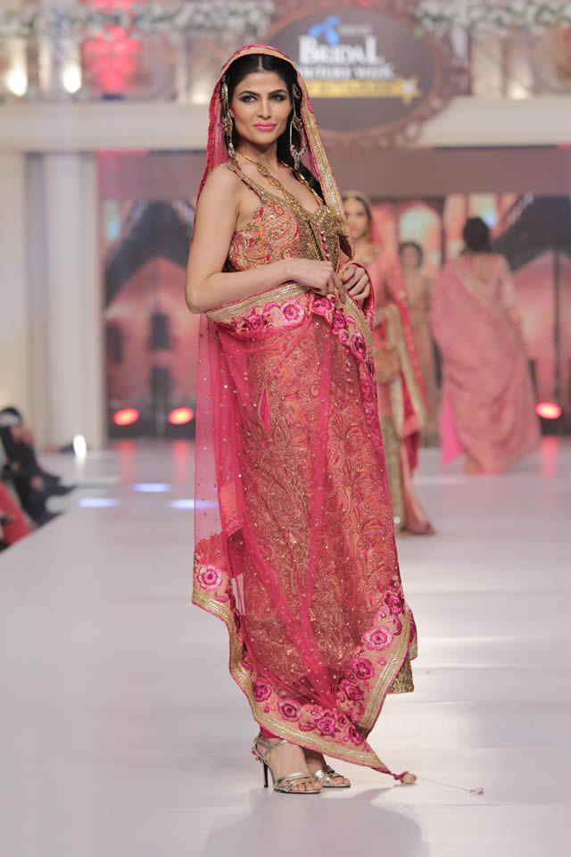 2015 Telenor Bridal Couture Week Ayesha Ibrahim Dresses Collection Photos