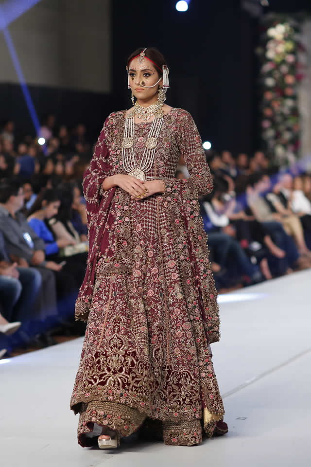 2015 PFDC Loreal Paris Bridal Week Fahad Hussayn Formal Dresses Pics
