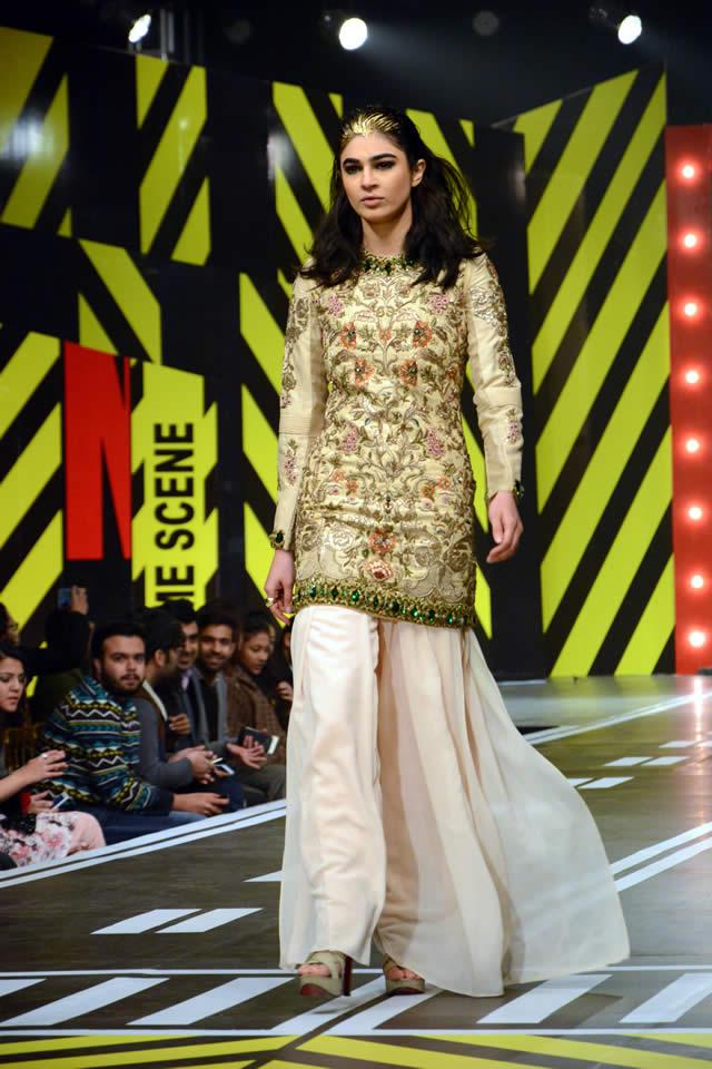 Fahad Hussayn Dresses Runway Pakistan 2016 Images