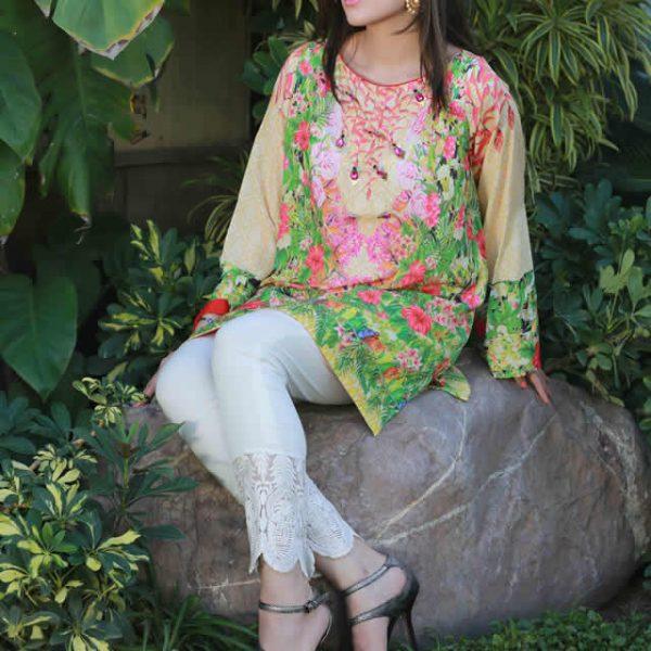 Farah Talib Aziz exclusive Silk Printed Kurtas