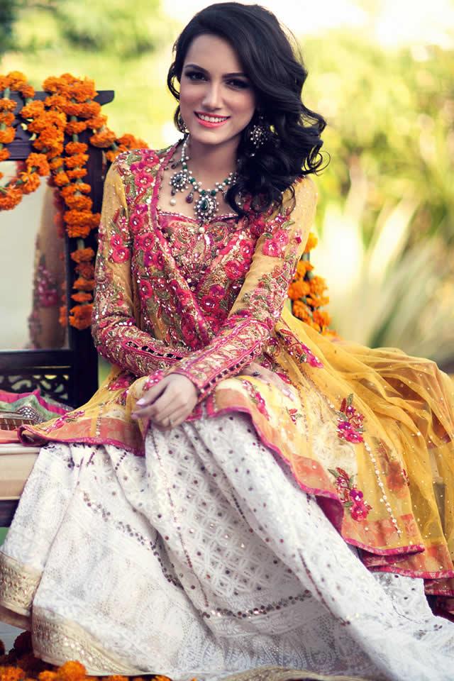 Bridal Spring Summer Farah Talib Aziz 2015 Collection